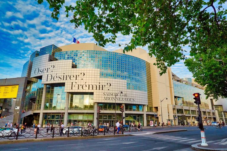 Liberty column, Opera Bastille, Bastille square, Place de la Bastille, Paris, France