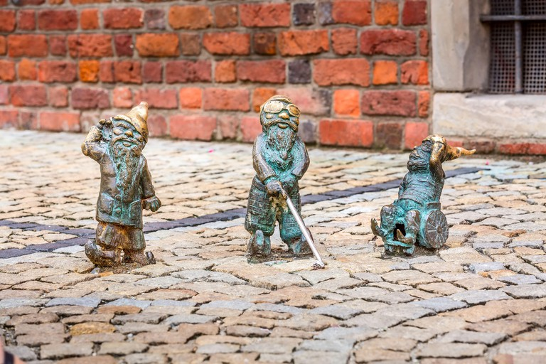Wroclaw, Poland disabled dwarves figurines