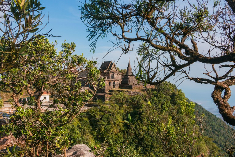 An old temple at Bokor Mountain