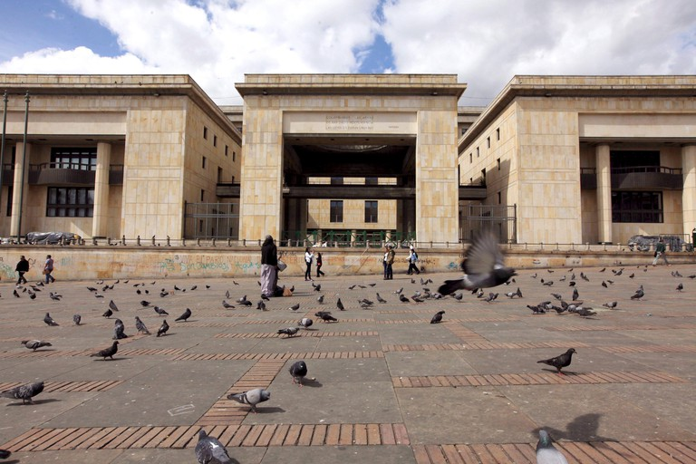 General view of the Palace of Justice as seen from the Bolivar square in Bogota April 7, 2015. REUTERS/Jose Miguel Gomez