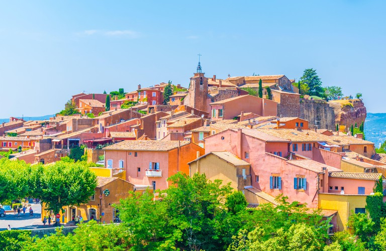 Roussillon village in France