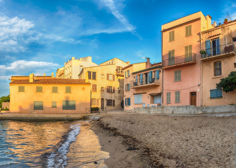 The scenic La Ponche beach in Saint-Tropez, Cote d'Azur, France