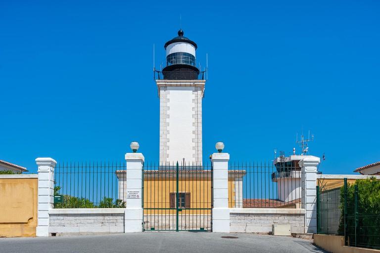 Lighthouse at Cap Camarat, Ramatuelle, Var, Provence-Alpes-Cote d'Azur, France. Image shot 2013. Exact date unknown.