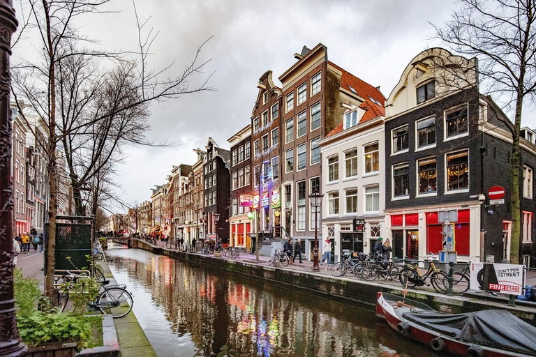 AMSTERDAM, De Wallen, 08-12-2019, Window prostitution in The red light district in of Amsterdam. (Photo by Pro Shots/Sipa USA)