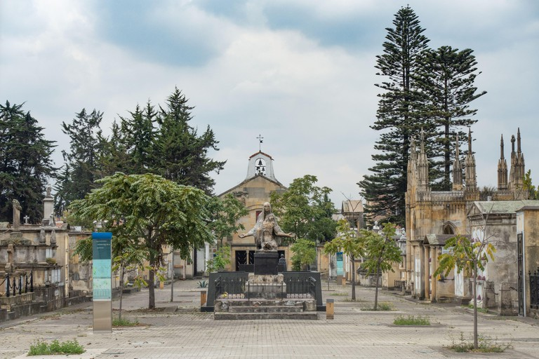 the Central Cemetery of Bogota