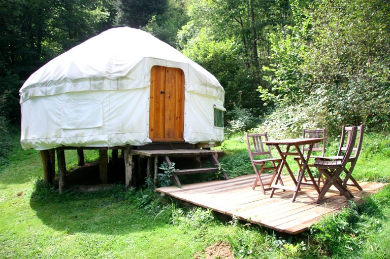 Luxury Yurt in Livradois National Park near Clermont-Ferrand in Auvergne, France