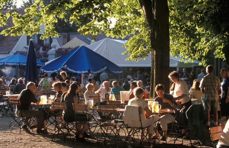 Beer garden Hirschgarten Munich