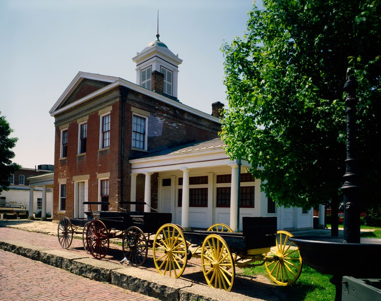 Historic old Market House in Galena in Illinois Galena was the home town of President U S Grant