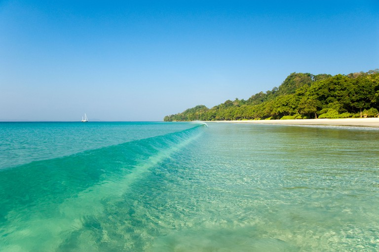 Beach number seven on Havelock Island in the Andaman Islands in India