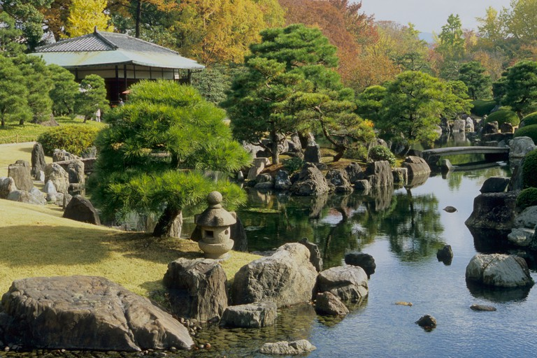 Japan, Kyoto, Nijo Castle, garden
