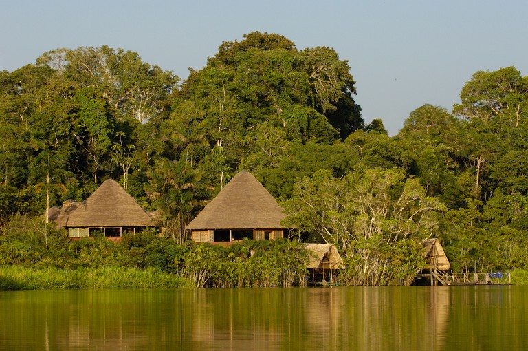 Sani Lodge. Close to Yasuni National Park. Napo River Amazon Rain Forest. Ecuador. South America