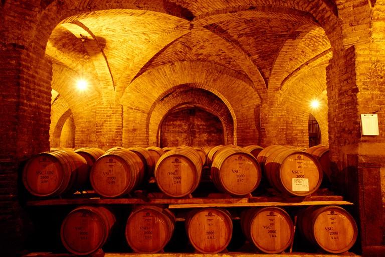 Wine casks Santa Carolina Santiago de Chile Chile