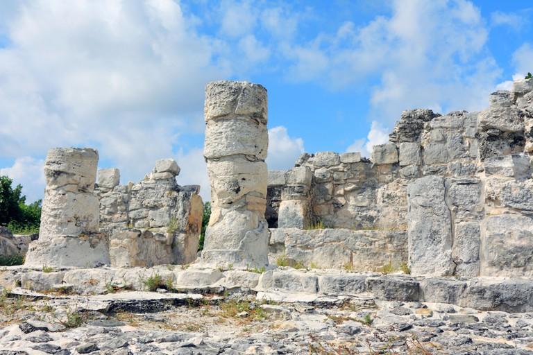 Details of Ruina El Rey or Zona Arqueologica El Rey in Cancun Mexico. Image shot 12/2008. Exact date unknown.