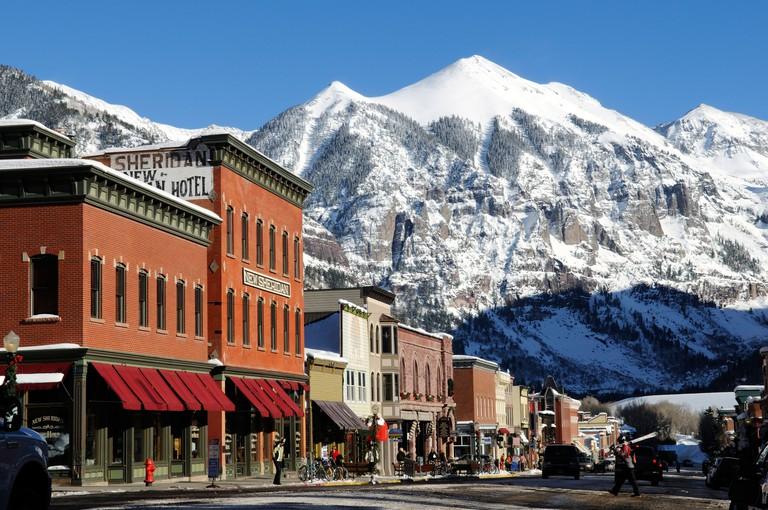 Mainstreet, New Sheridan Bar in Telluride, Colorado, USA