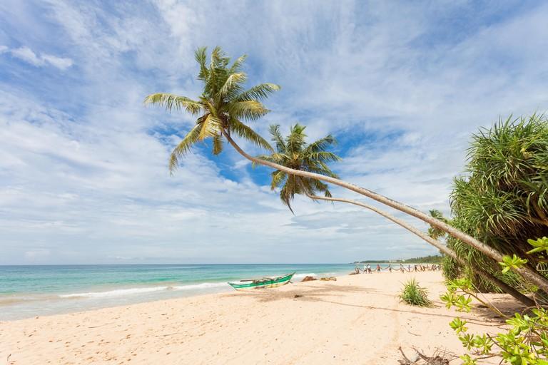 Balapitiya, Sri Lanka, Asia - The beautiful landscape at the beach of Balapitiya