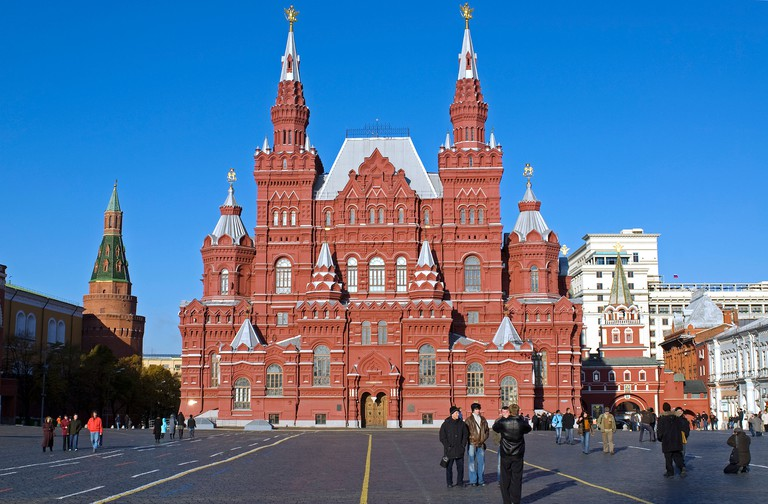 Russia, Moscow, Red Square, State Historical Museum. Built 1883.