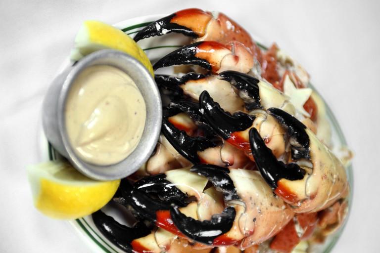 Plate of Stone Crabs, Joe's Stone Crab Restaurant, South Beach, Miami, Florida, USA