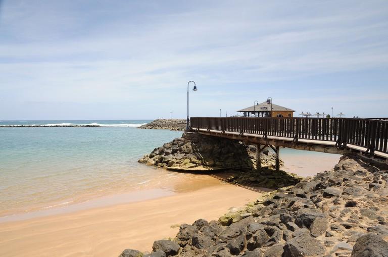 Beach in Caleta de Fuste. Canary Island Fuerteventura, Spain. Image shot 05/2010. Exact date unknown.