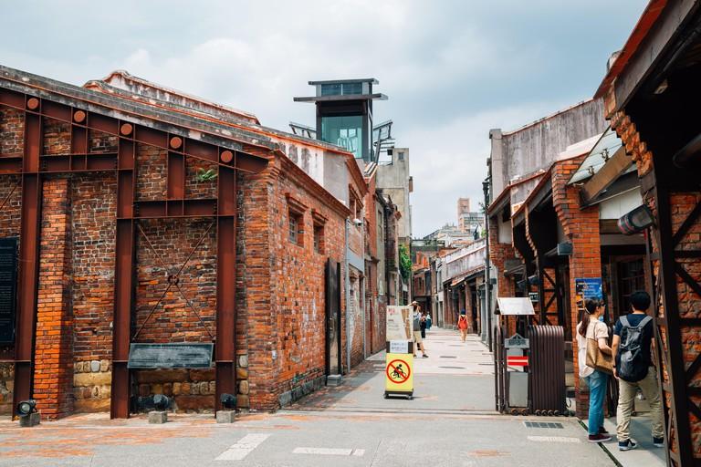 Taipei, Taiwan - May 1, 2018 : Bopiliao Historical Block old street