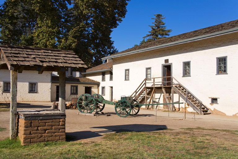 West Yard at Sutter's Fort State Historic Park, Sacramento, California, USA