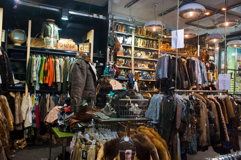 Paris, France, Shopping, Vintage Clothes, Kiliwatch Clothing Store, Montorgeuil District, inside, fast fashion