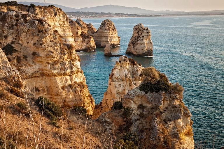 Portugal Lagos Ponta De Piedade Rocks