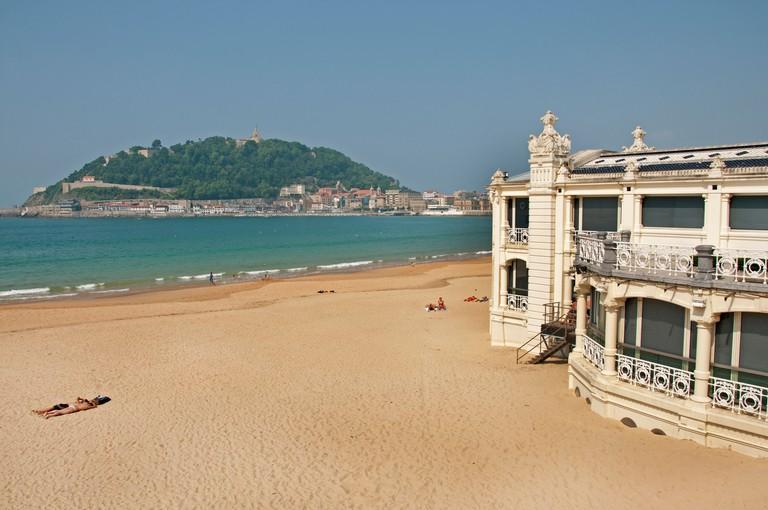 Playa de la Concha San Sebastian Spain Basque Country Beach Sea Sand