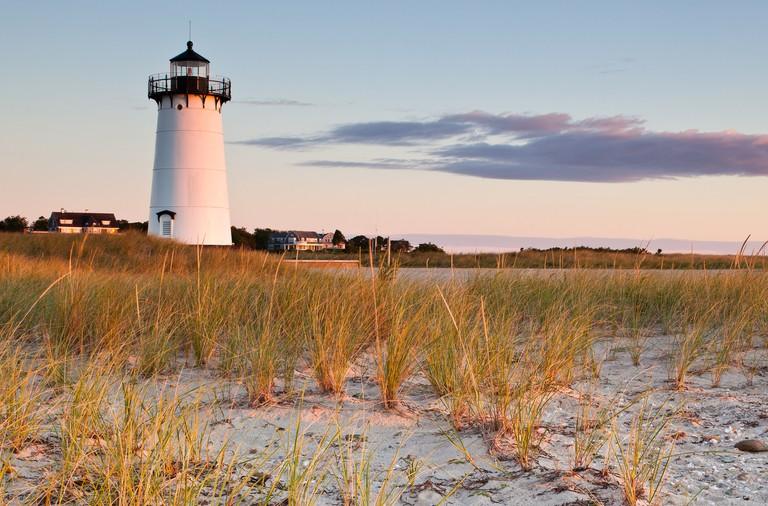 Edgartown Harbor Light at sunrise, Edgartown, Martha's Vineyard, Massachusetts
