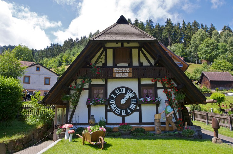 World's largest cuckoo clock, Schonach in the Schwarzwald, Baden-Wurttemberg, Germany