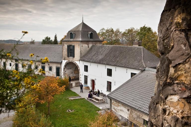 The Netherlands, Maastricht, Historical farm called Lichtenberg.