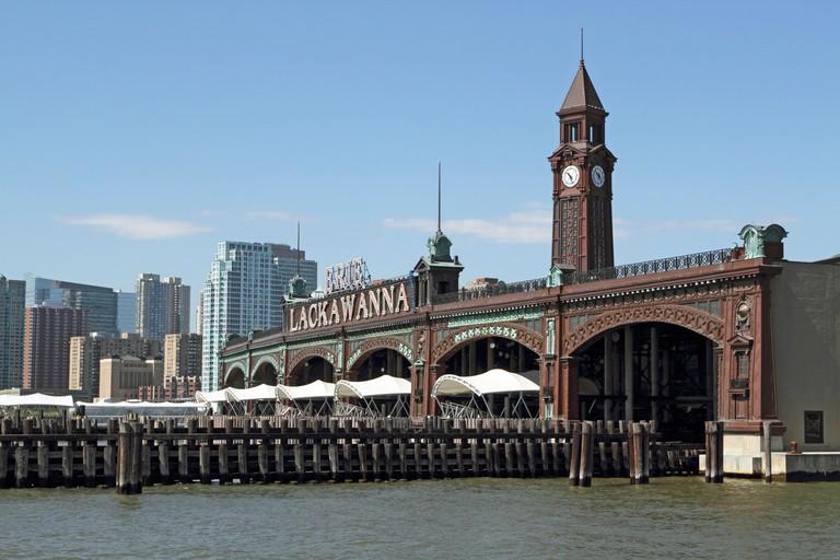 The Erie-Lackawanna Railroad and Ferry Terminal. Hoboken, NJ, USA - C5CBGE