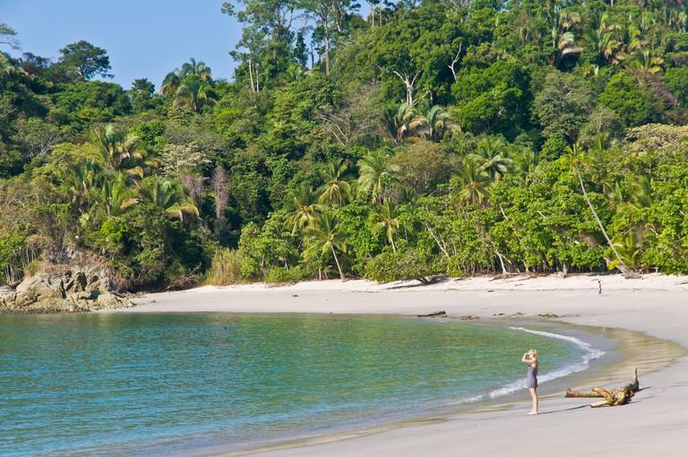White sand Beach Manuel Antonio National Park Puntarenas Costa Rica