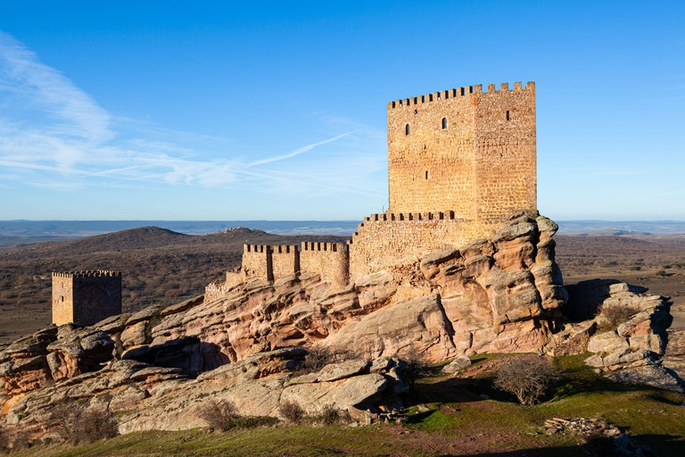 Castillo de Zafra in Guadalajara, Spain. Seen in Game of Thrones as the birthplace of Jon Snow