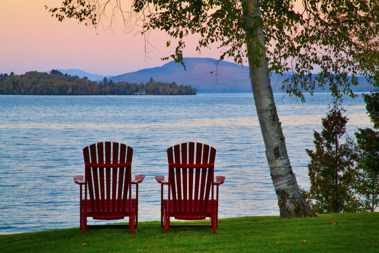 Sunrise, Loon Lodge, Rangeley Lake, Rangeley, Maine, USA