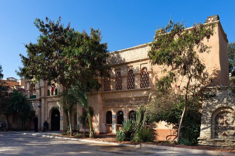 Entrance to the Medina d'Agadir tourist complex/market, Agadir, Morocco, North Africa