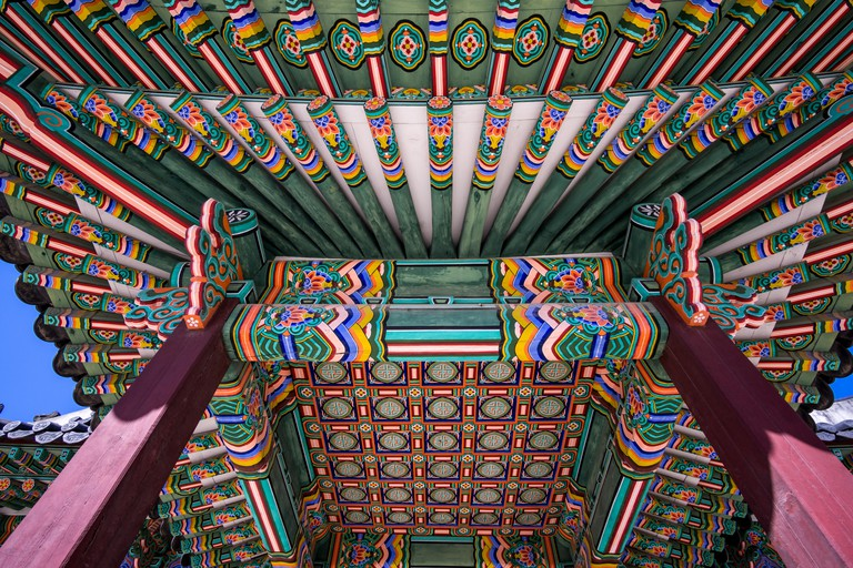 Changdeokgung Architecture ceiling. Image shot 02/2016. Exact date unknown.