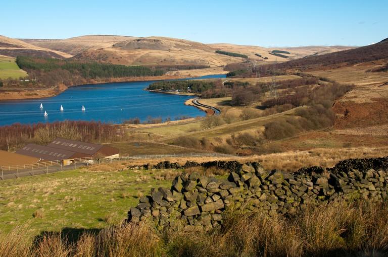 Torside reservoir in the Longdendale Valley, Peak District, Derbyshire, England, UK