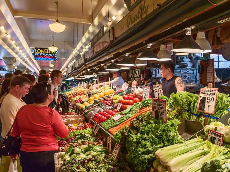 Pike Place public farmers Market Seattle