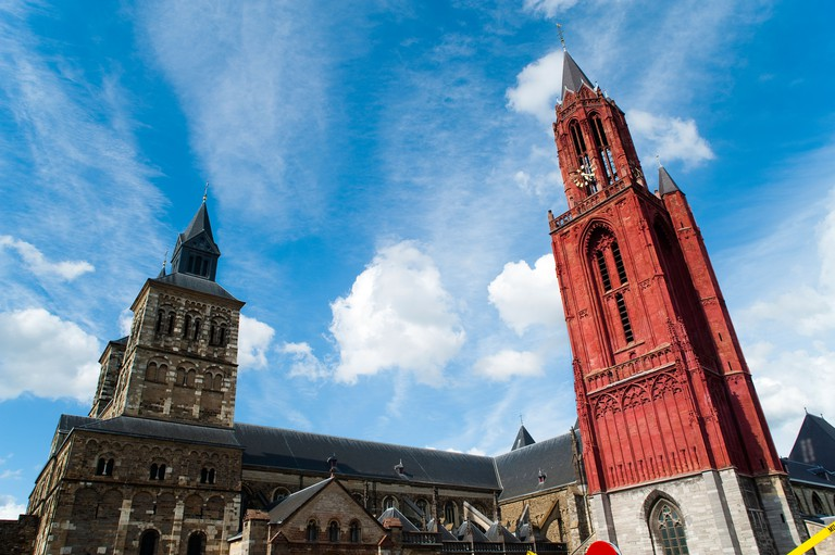 Saint Servatius and St. John churches, Maastricht, The Netherlands, Europe.. Image shot 07/2010. Exact date unknown.