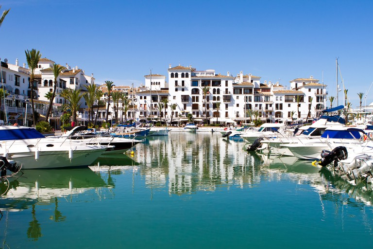 Puerto Duquesa, Manilva, Spain: The marina is full of eateries and bars, which overlook the beautiful views out to sea