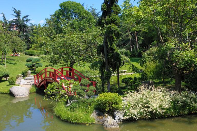 France, Midi-Pyrenees, Toulouse, Jardin Japonais,
