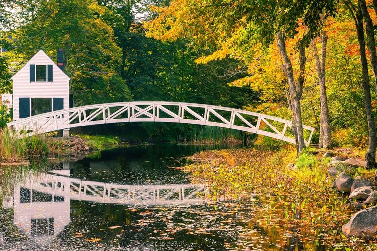 Somesville bridge in Acadia N.P, Maine, USA