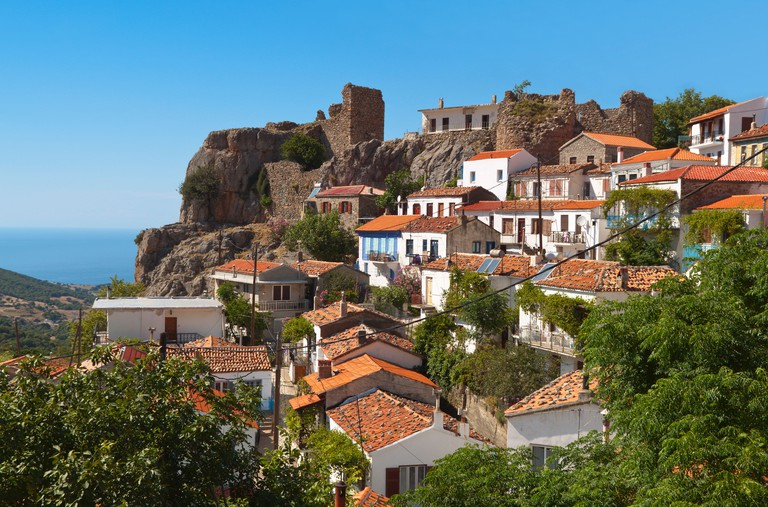 Village of 'Chora' at Samothraki island in Greece