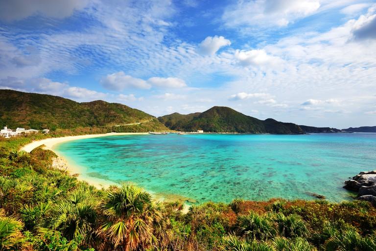 Aharen Beach on the island of Tokashiki in Okinawa, Japan.