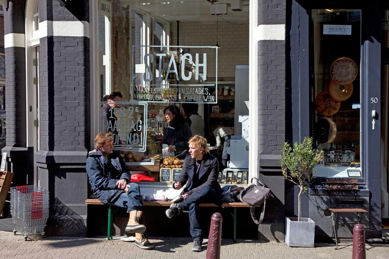 Stach - popular healthy food shop and cafe, Nieuwe Spiegelstraat, Amsterdam, Netherlands