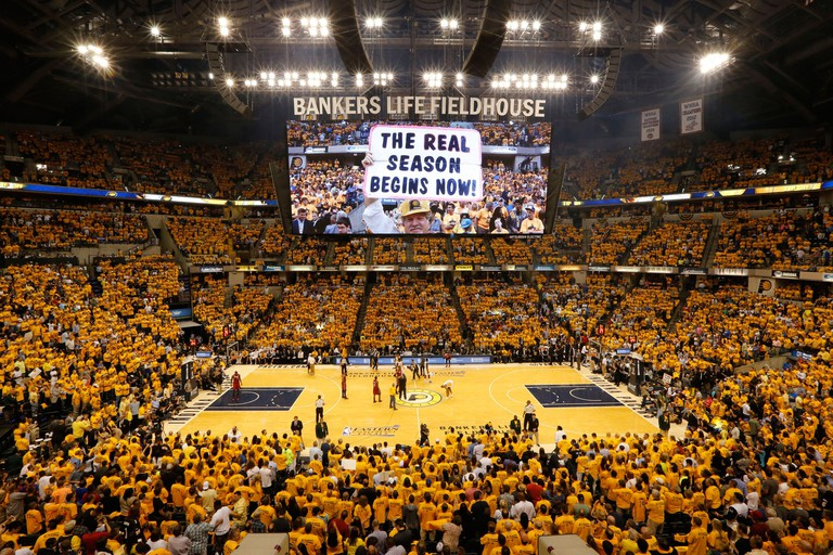 The game gets underway as the Miami Heat visit the Indiana Pacers in Game 6 of the Eastern Conference Finals at Bankers Life Fieldhouse in Indianapolis, Indiana, on Saturday, June 1, 2013. (Al Diaz/Miami Herald/MCT)