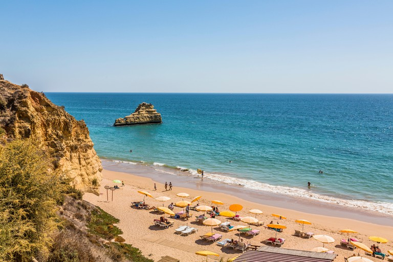 Beach Praia da Rocha, Portimao, Algarve, Atlantic, Portugal, Europe