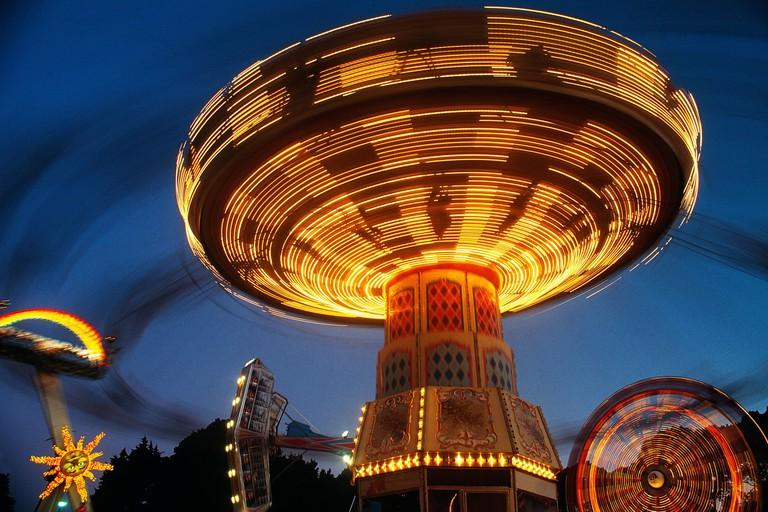 Moomba carnival, fairground rides,