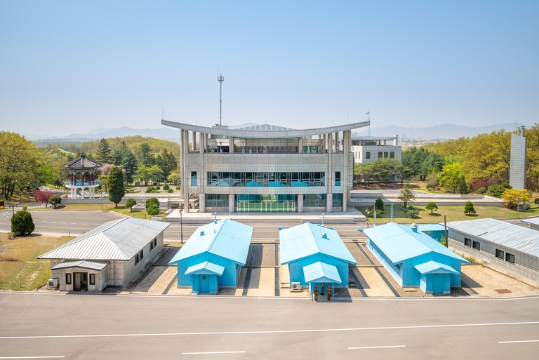 Panmunjeom, also known as the 38th Parallel, DMZ