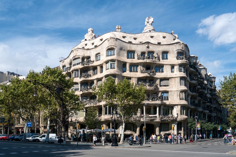 Casa Mila in the Eixample area of Barcelona - Antoni Gaudi Architect